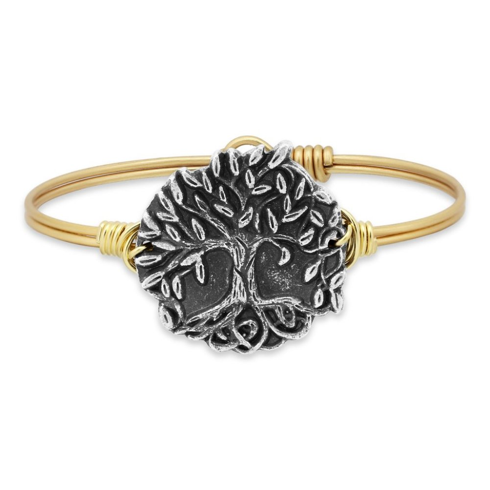 Luca + Danni Bracelet - Wishing Tree Bangle - Brass