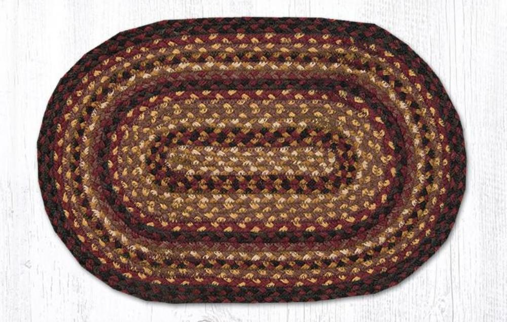Braided Placemat - Small - Cherry/Chocolate/Cream - 10in x 15in