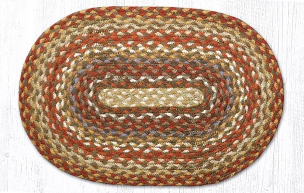 Earth Rug - Braided Mini Oval - Honey/Vanilla/Ginger - 10x15