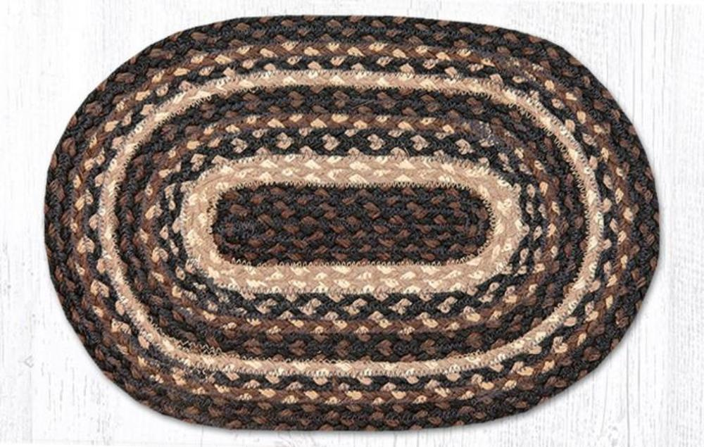Braided Placemat - Small - Mocha/Frappuccino - 10in x 15in