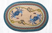 Earth Rug - Braided Oval - Blue Crab - 20x30