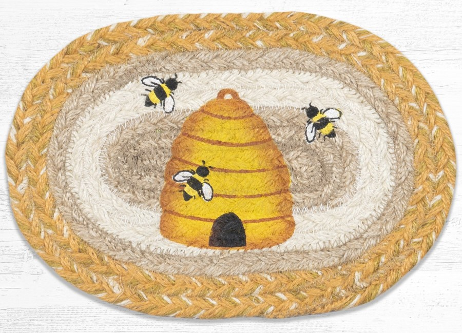 Braided Placemat - Small - Beehive - 10in x 15in