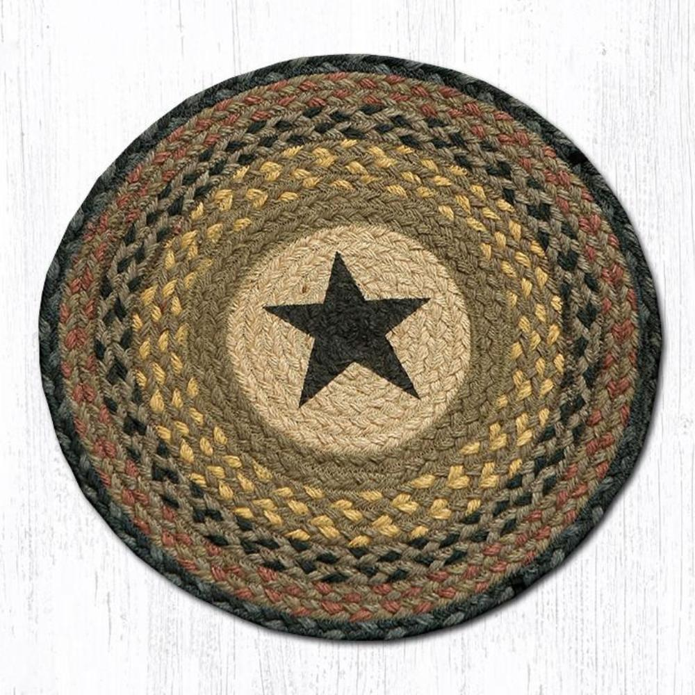 Earth Rug - Braided Round Chair Pad - Star - 15.5in