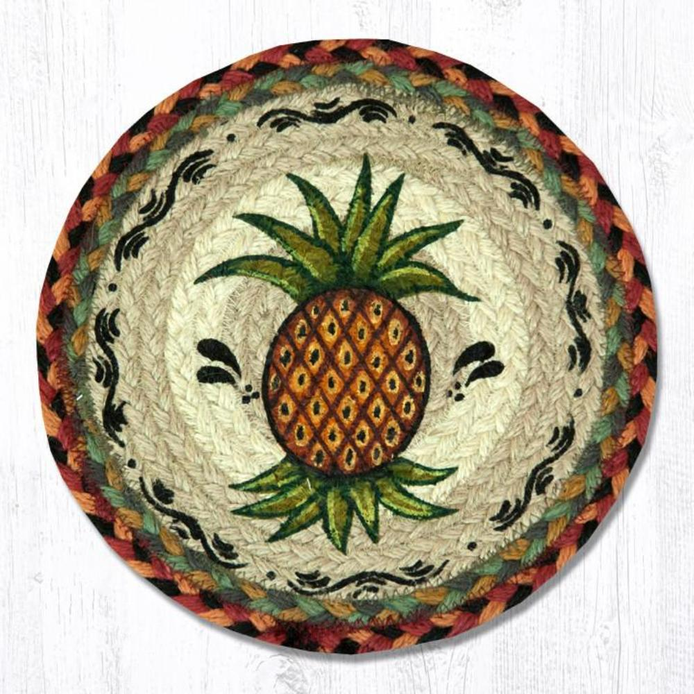 Earth Rug - Braided Round Trivet - Pineapple - 10in