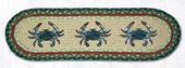 Earth Rug - Braided Stair Tread - Blue Crab - 8.25x27
