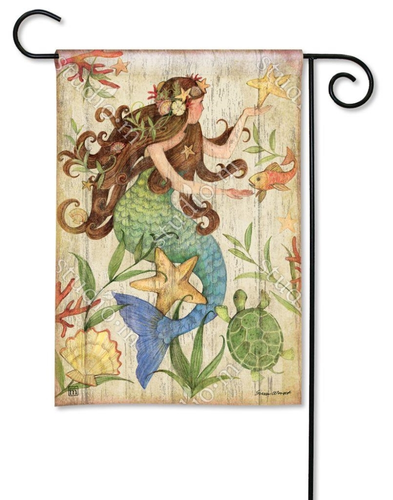 BreezeArt Small Garden Flag - Mermaid - 12.5in x 18in