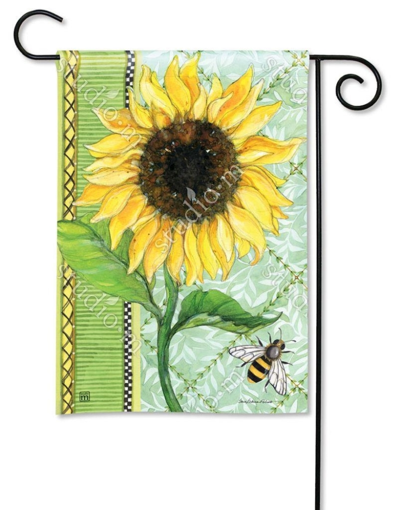 BreezeArt Small Garden Flag - Single Sunflower - 12.5in x 18in