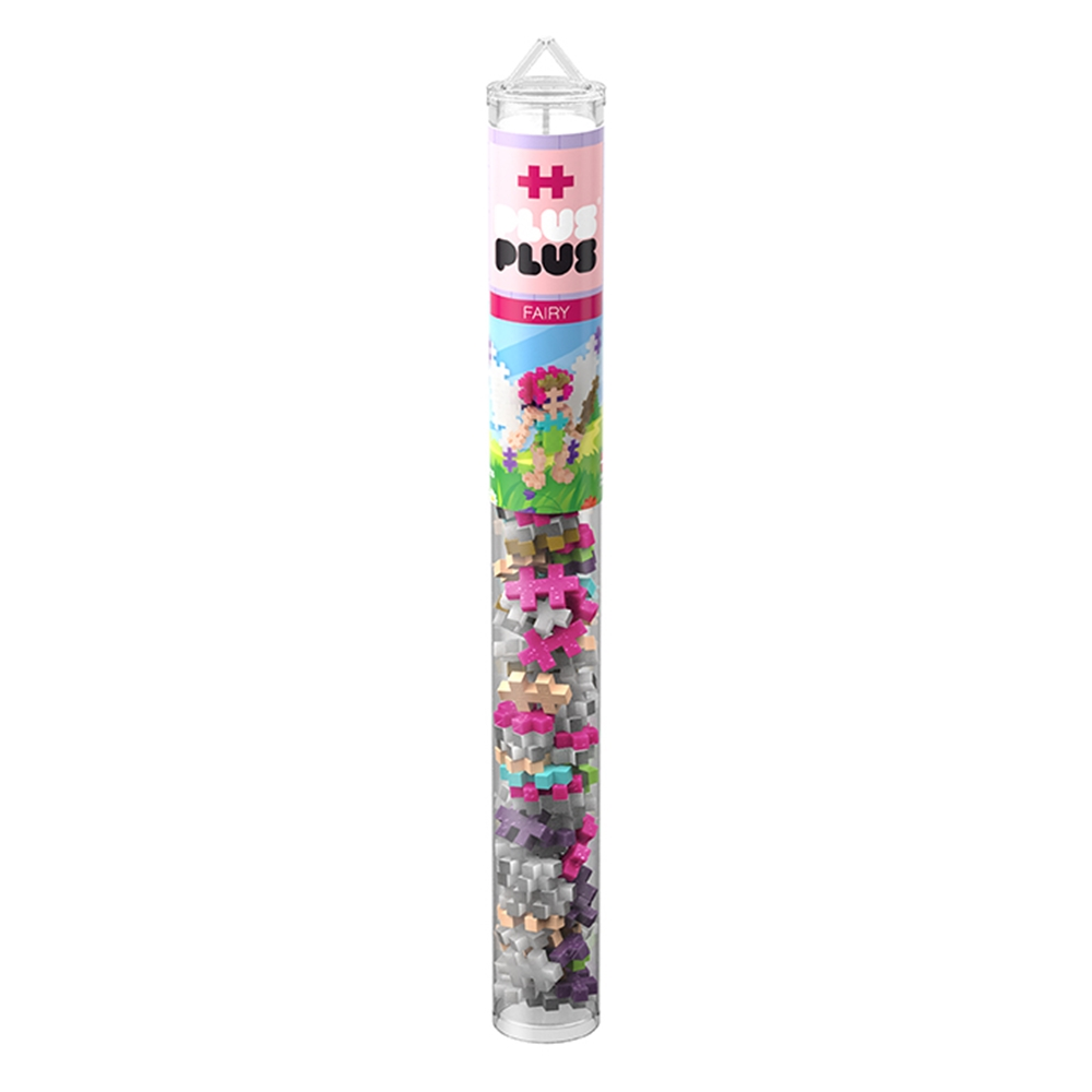 Building Set - Plus-Plus Developmental Toy - Fairy Mix - Single Tube