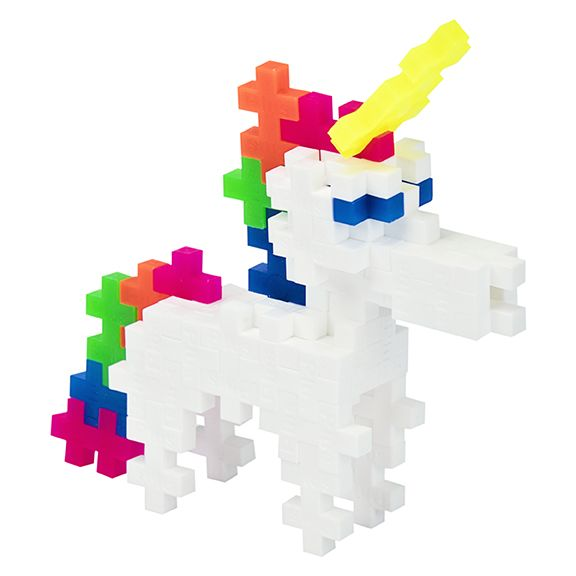 Building Set - Plus-Plus Developmental Toy - Unicorn Mix - Single Tube