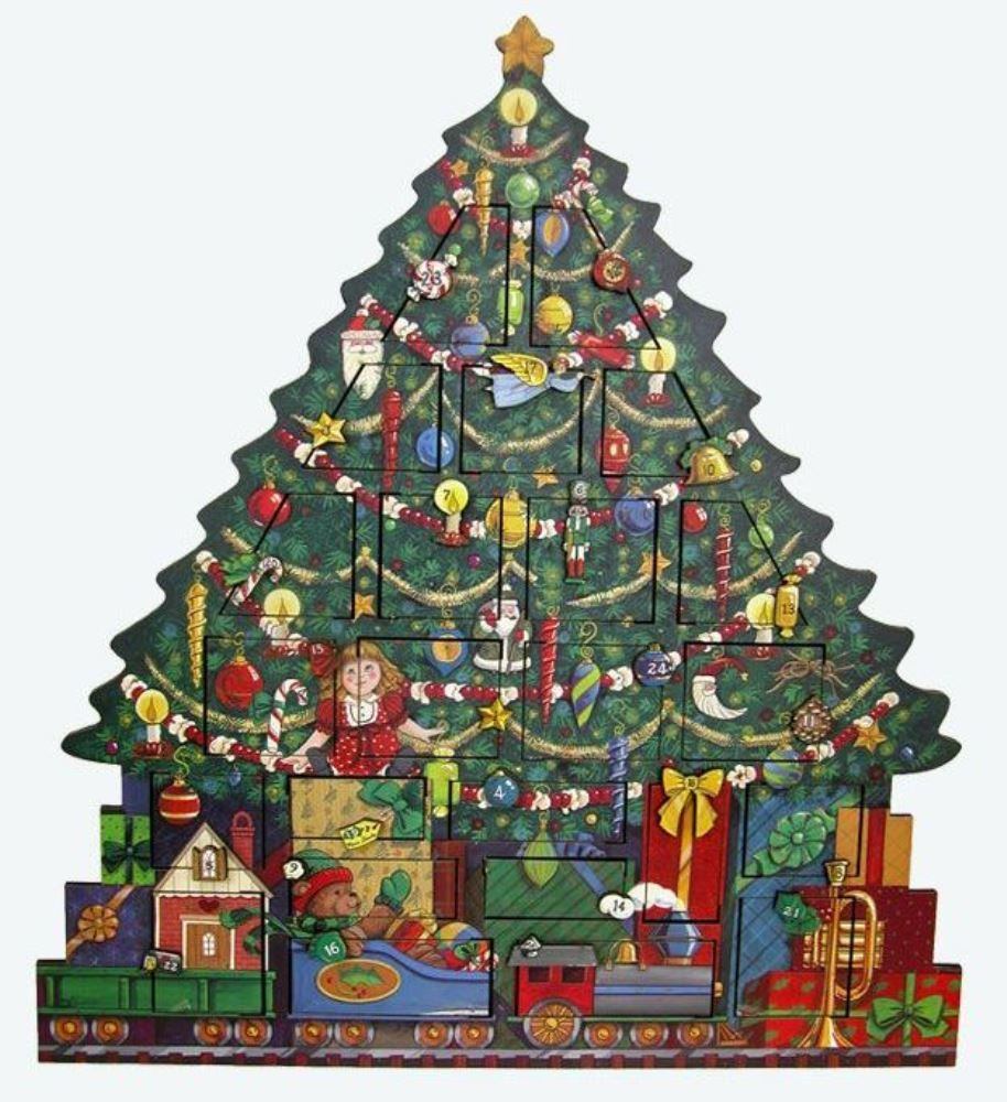 Byers Choice Advent Calendar - Christmas Tree Advent Calendar