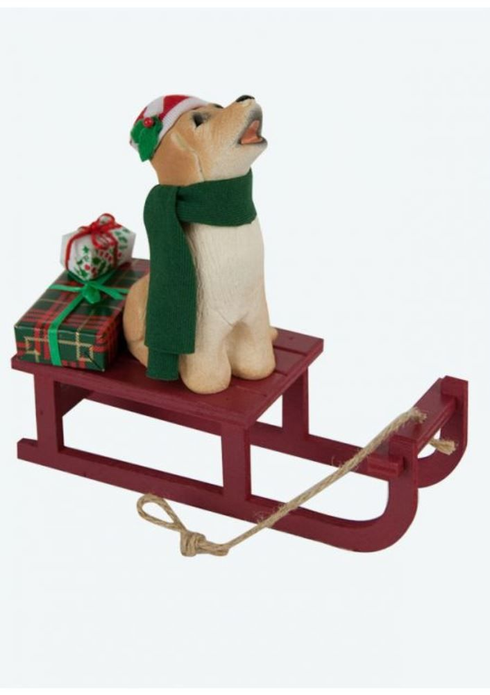 Byers Choice Accessory - Dog with Sled 2011