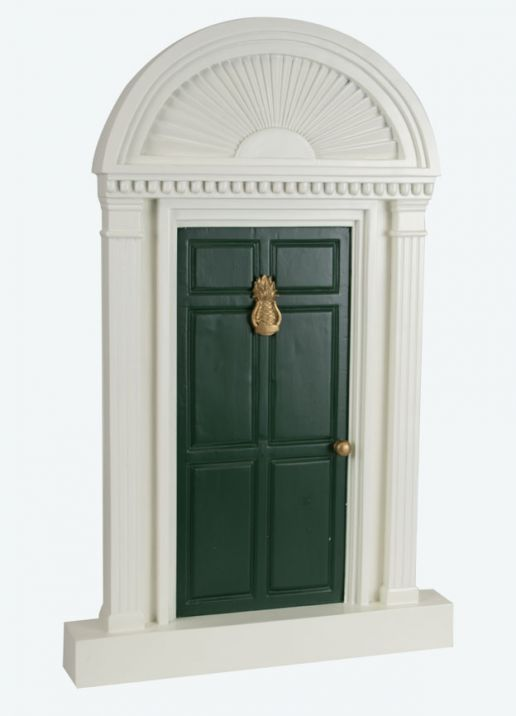 Byers Choice Caroler Accessory - Green Door with Pineapple 2020
