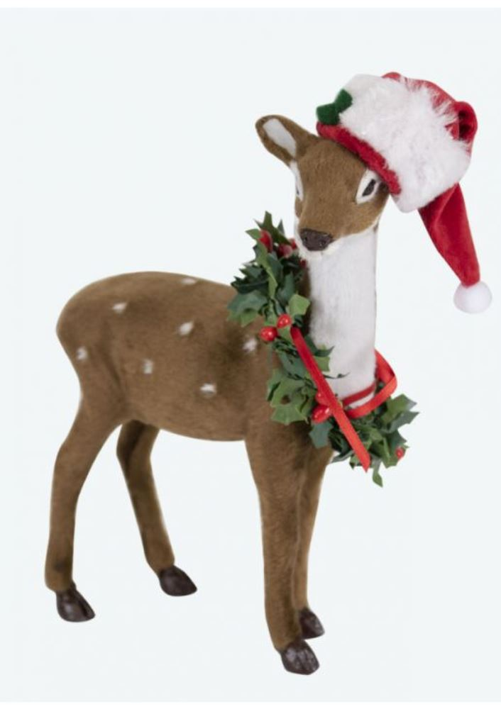 Byers Choice Accessory - Reindeer with Wreath 2019
