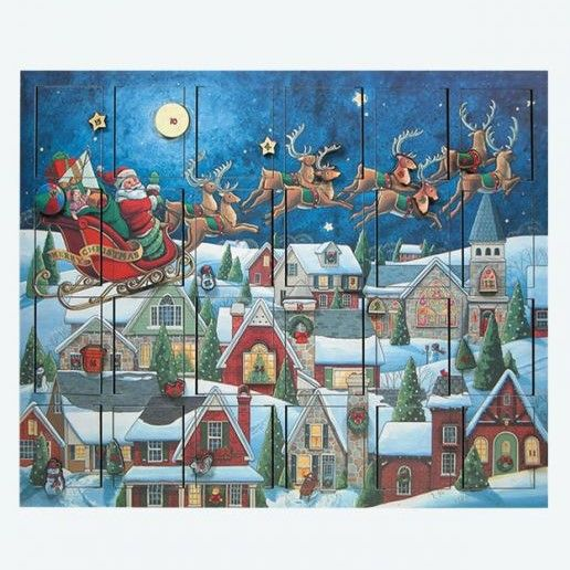 Byers Choice Advent Calendar - Santas Sleigh Advent Calendar