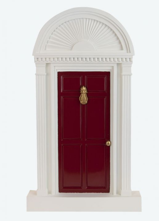 Byers Choice Caroler Accessory - Red Door with Pineapple 2021