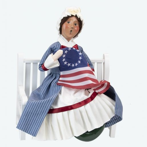 Byers Choice Caroler - Betsy Ross on Bench 2021