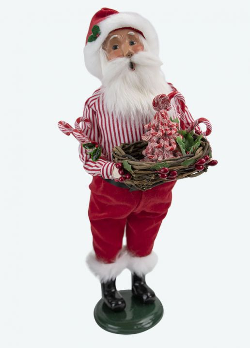Byers Choice Caroler - Candy Cane Santa 2020