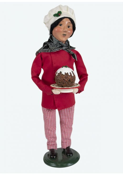 Byers Choice Caroler - Chef with Plum Pudding 2019