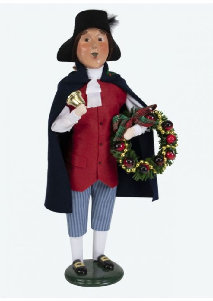 Byers Choice Caroler - Colonial Man with Wreath 2019