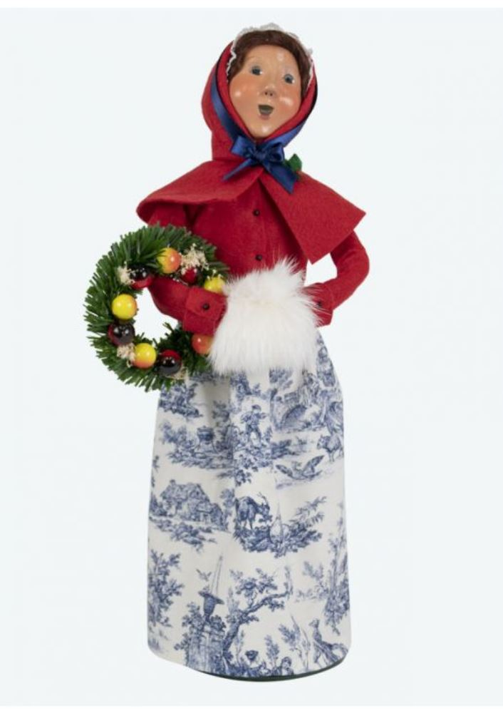 Byers Choice Caroler - Colonial Woman with Wreath 2019