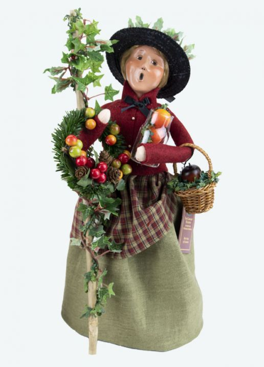 Byers Choice Caroler - Cry with Holiday Greens 2021
