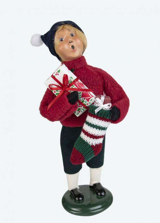 Byers Choice Caroler - Family Boy With Stocking 2020