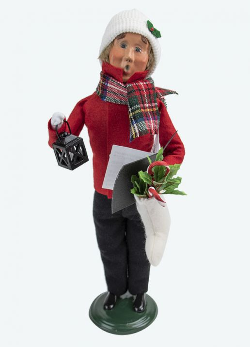 Byers Choice Caroler - Family Man with Stocking 2020