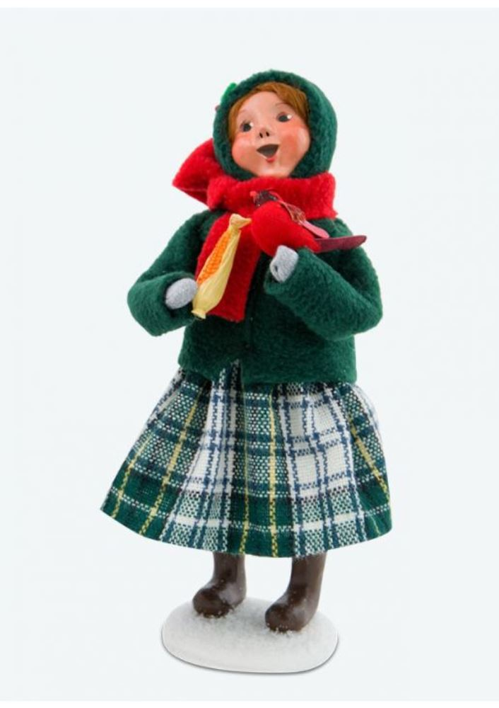 Byers Choice Caroler - Family with Cardinals Girl 2017