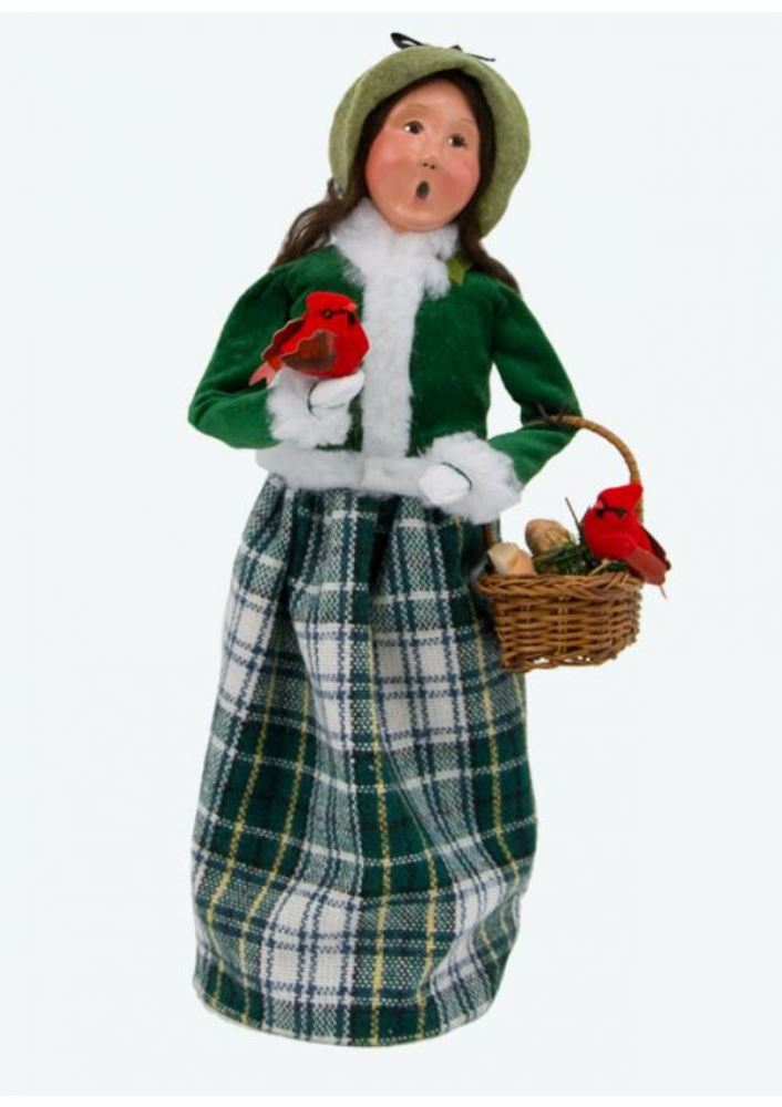 Byers Choice Caroler - Family with Cardinals Woman 2017