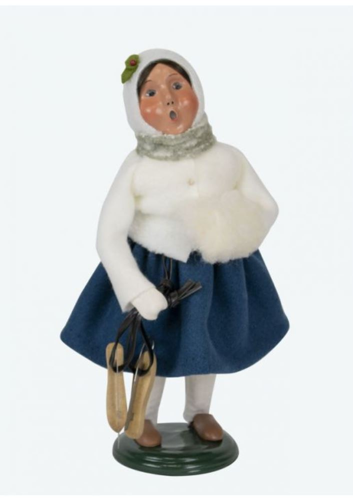 Byers Choice Caroler - Family with Skates Girl 2019
