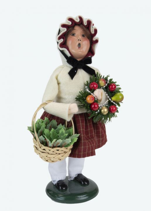 Byers Choice Caroler - Girl with Holiday Greens 2021