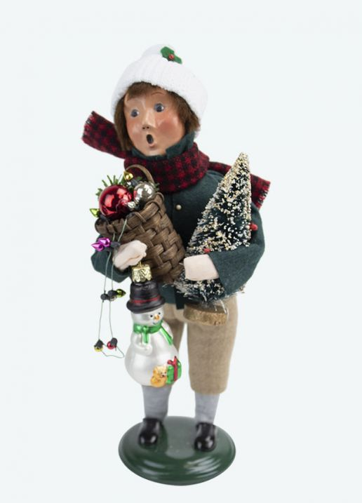 Byers Choice Caroler - Glass Ornament Boy 2020