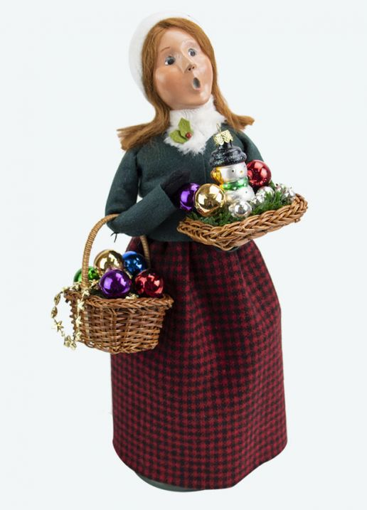 Byers Choice Caroler - Glass Ornament Woman 2020