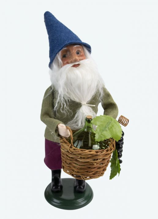 Byers Choice Caroler - Gnome with Wine 2020