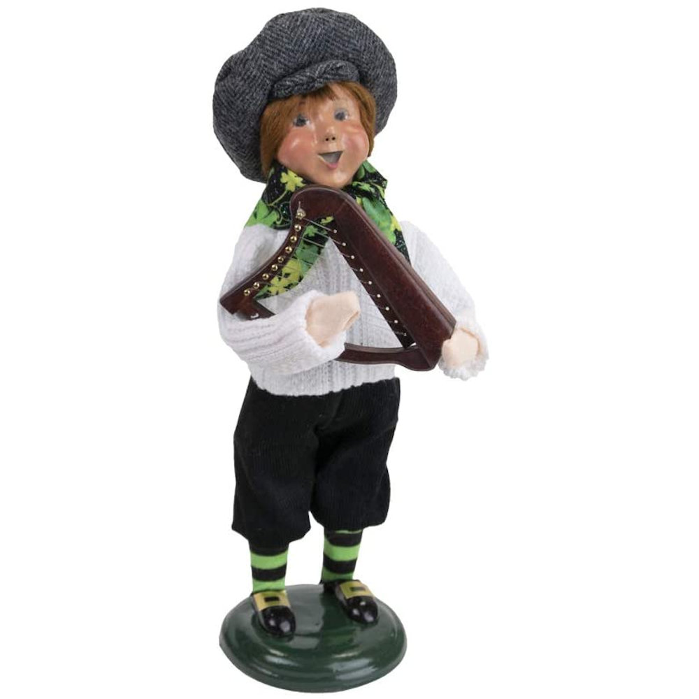 Byers Choice Caroler - Irish Boy with Harp 2021