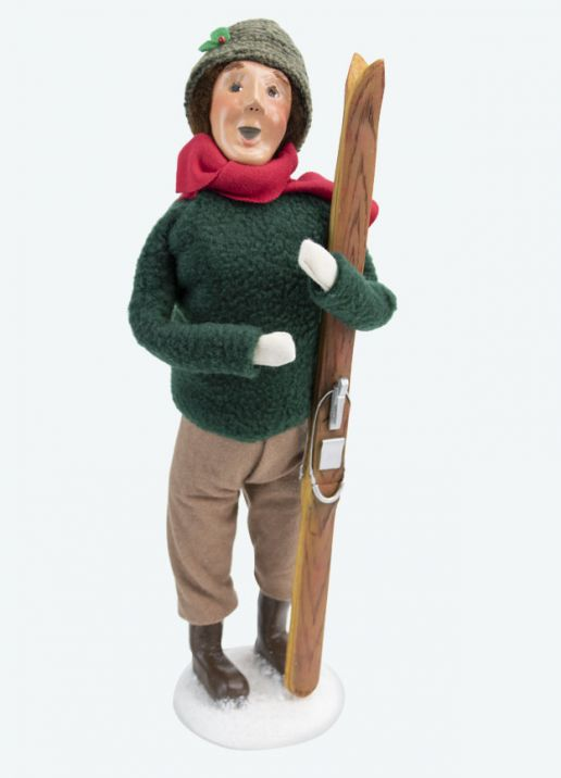 Byers Choice Caroler - Man with Skis 2020