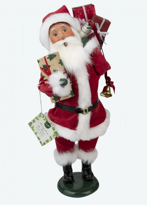 Byers Choice Caroler - Message From the Heart Santa 2017