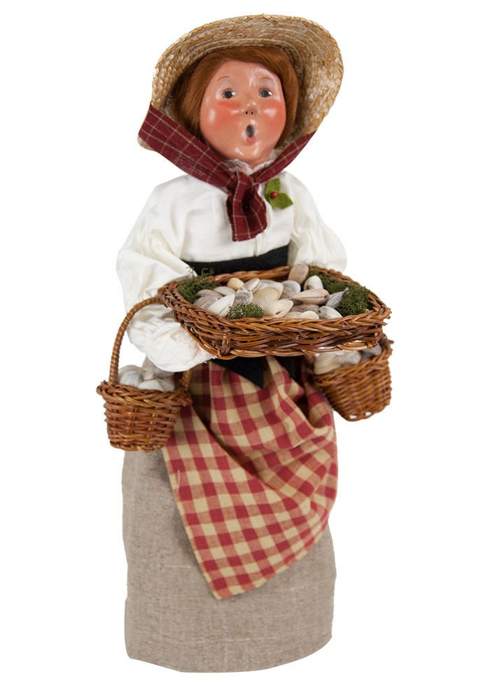 Byers Choice Caroler - Molly Selling Cockles 2018