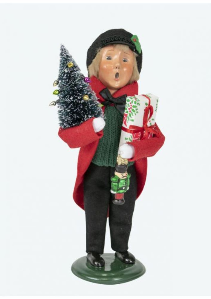 Byers Choice Caroler - Red Shopping Family Boy 2019