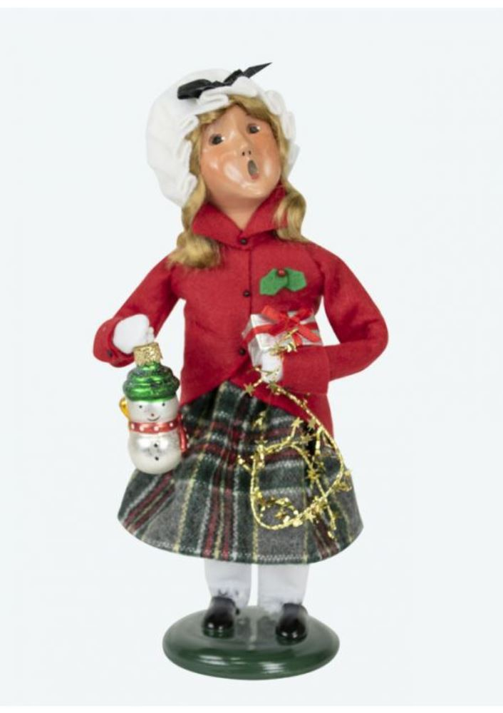 Byers Choice Caroler - Red Shopping Family Girl 2019