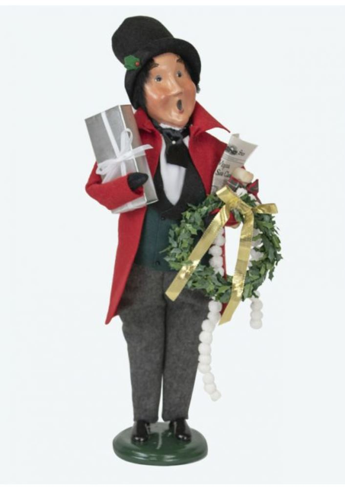 Byers Choice Caroler - Red Shopping Family Man 2019