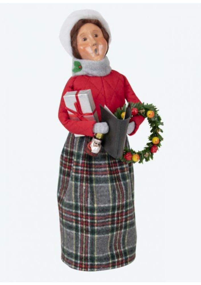 Byers Choice Caroler - Red Shopping Family Woman 2019