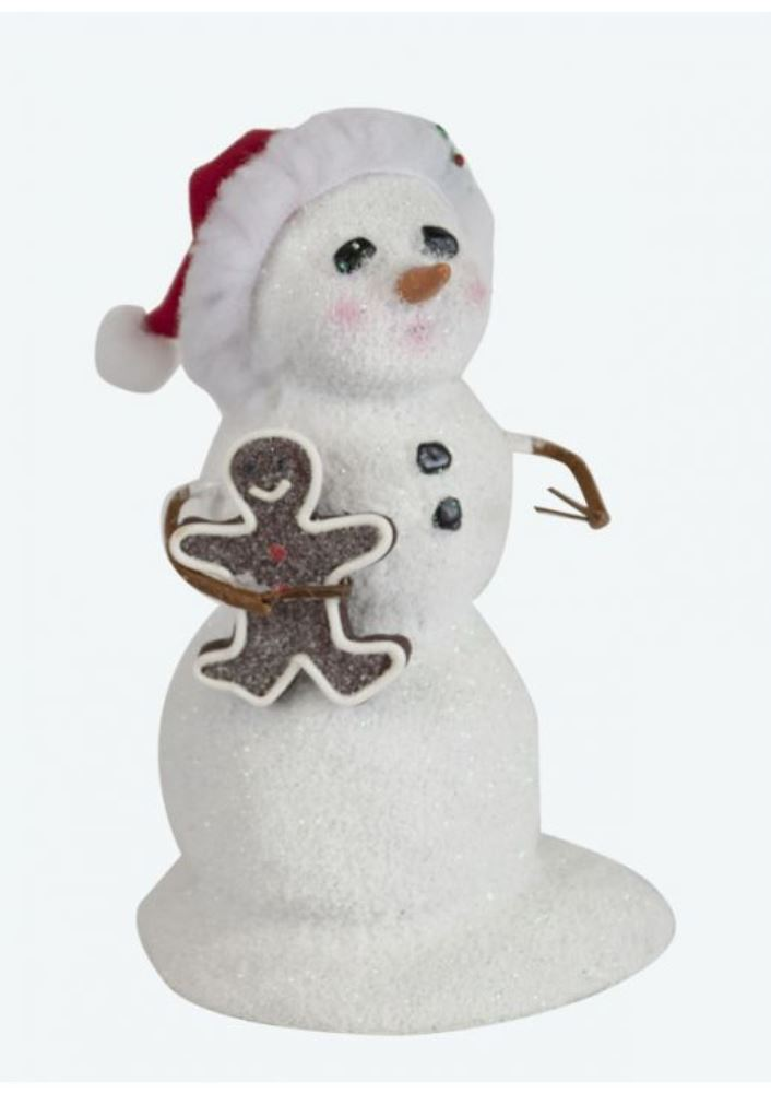 Byers Choice Caroler - Small Snowman with Gingerbread 2019