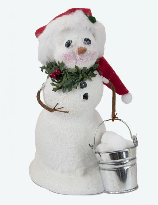 Byers Choice Caroler - Snowman with Bucket Snowballs 2021