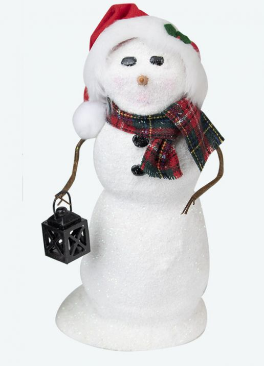 Byers Choice Caroler - Snowman with Lantern 2020
