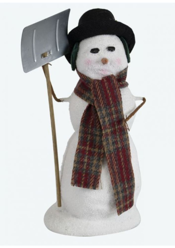 Byers Choice Caroler - Snowman with Shovel 2019