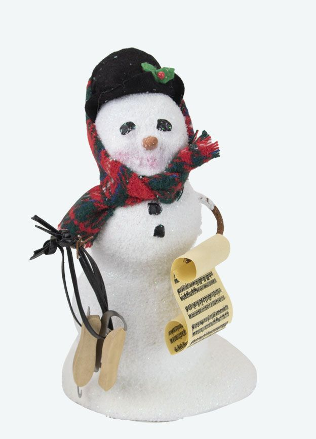 Byers Choice Caroler - Snowman with Skates 2021