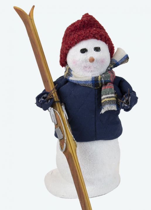 Byers Choice Caroler - Snowman with Skis 2021