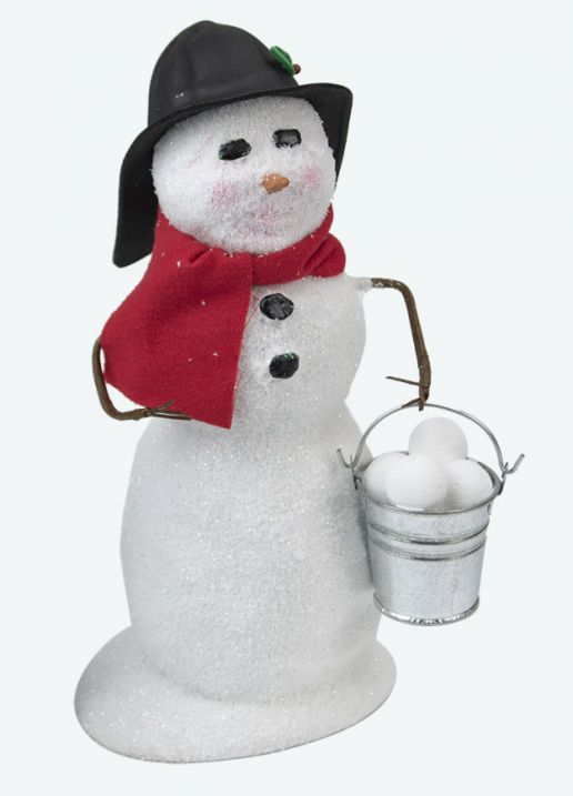 Byers Choice Caroler - Snowman with Snowballs 2020