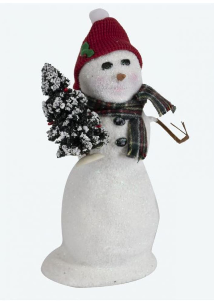 Byers Choice Caroler - Snowman with Tree 2019